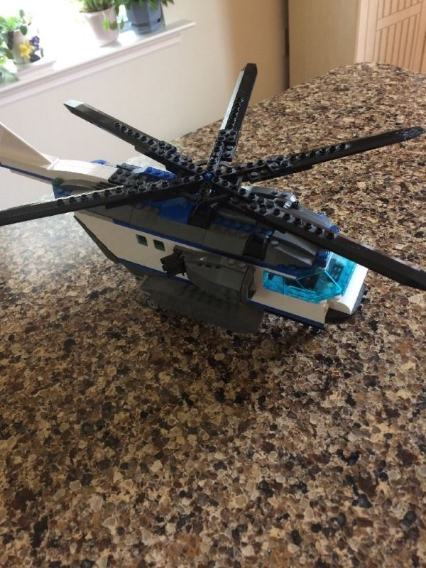 Lego City Helicopter 60046 Instructions Helicopter And Bridge